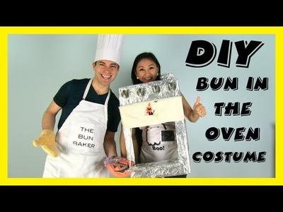 Halloween DIY Couples Pregnancy Costume: BUN IN THE OVEN!