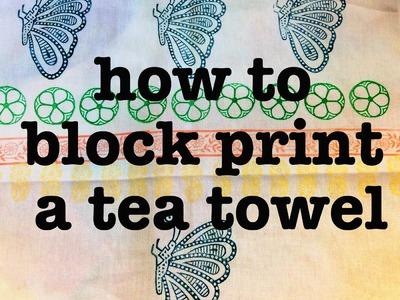 How to block print - Hobby craft fabric printing