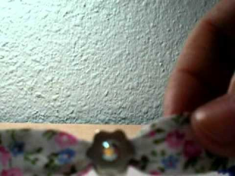 How to: fabric bracelet in 60 seconds!