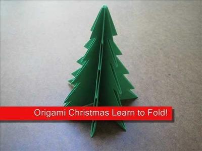 How to Fold Origami Christmas Tree - OrigamiInstruction.com