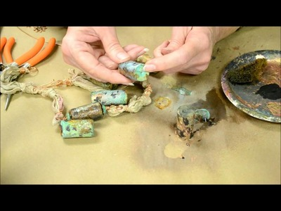 How to make a cork bead with verday paint