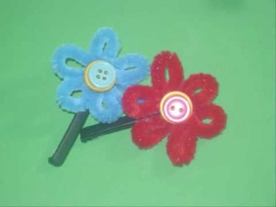 How to make a flower hair clip with a pipe cleaner - EP
