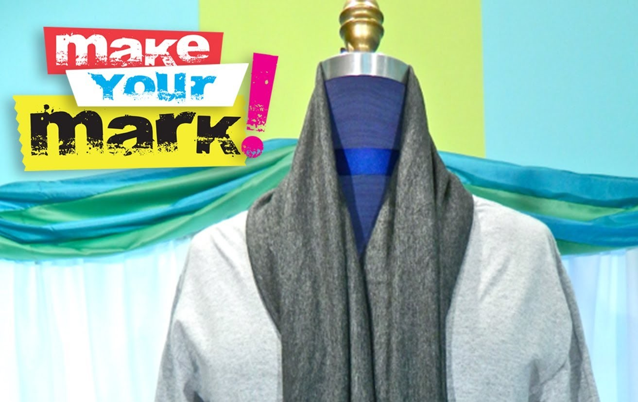How to Make a Scarf Neck Cardigan DIY