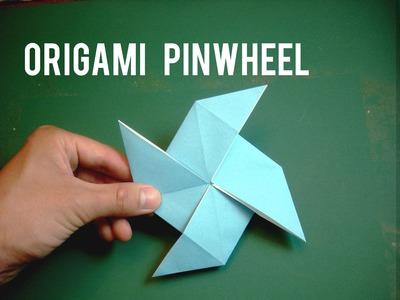 How to make an Easy Origami Pinwheel