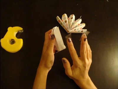How to make paper pinwheels- stop motion video tutorial