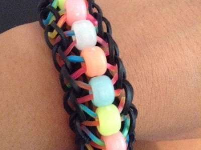 How to make the rainbow loom beaded ladder (EASY)