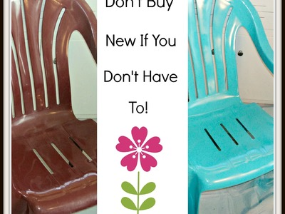 How To Paint Cheap Plastic Lawn Chairs ~ Homesteading Ways