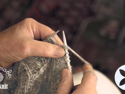 Knitting Made Easy - Diamond pattern stitch part 3