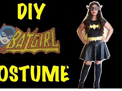 Last Minute DIY Halloween Batgirl Costume