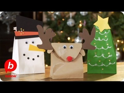 Make 3 Christmas Gift Bags: Tree, Reindeer & Snowman | Crafts | Babble