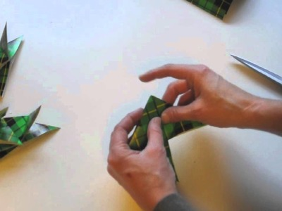 Make Wrapping Paper Origami Christmas Ornaments