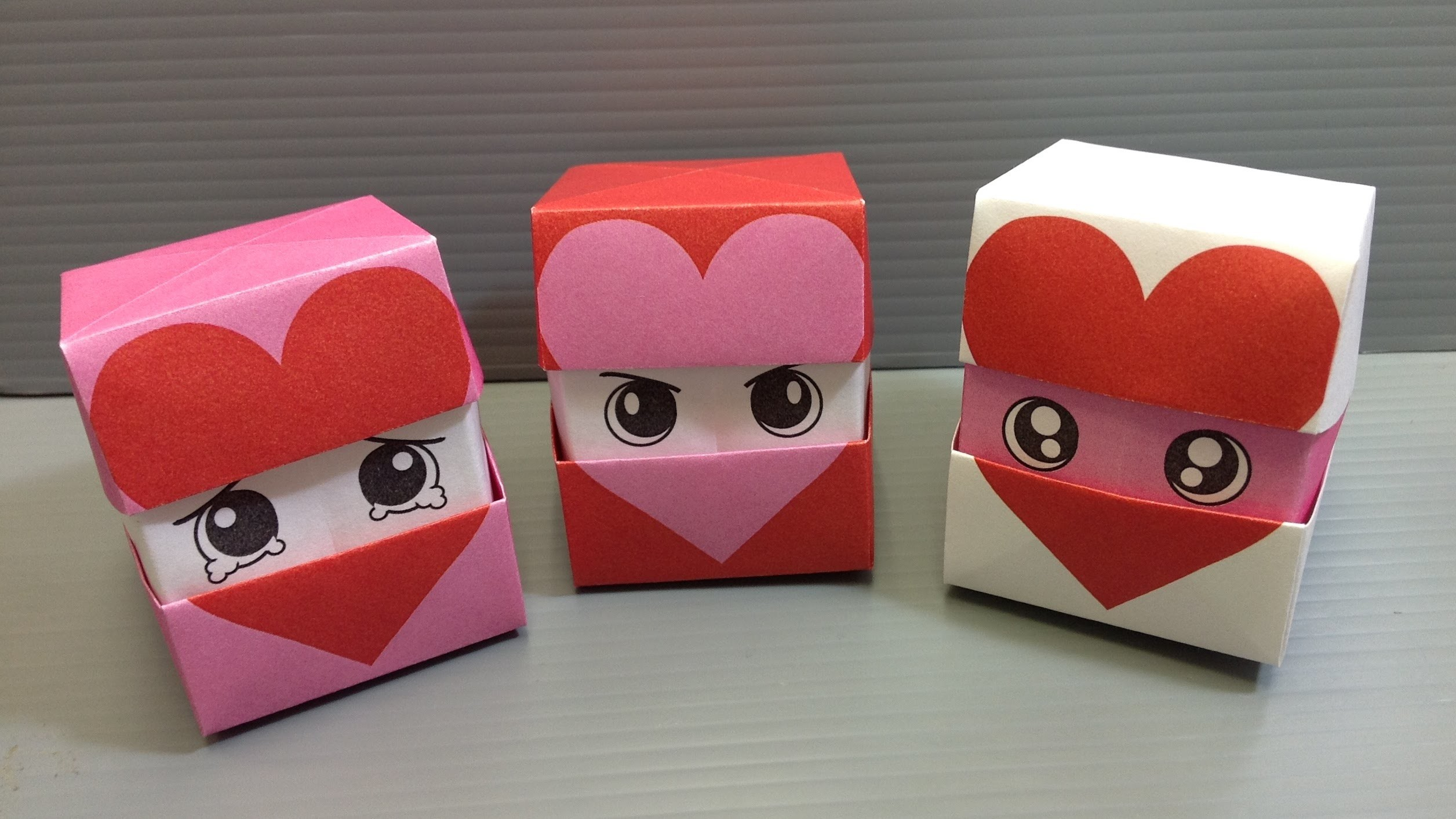 Origami Changing Faces Heart Cube - Print at Home