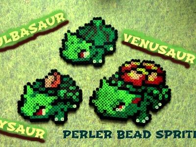 Perler Bead Pokémon: Bulbasaur, Ivysaur, Venusaur Evolution (#1-3)