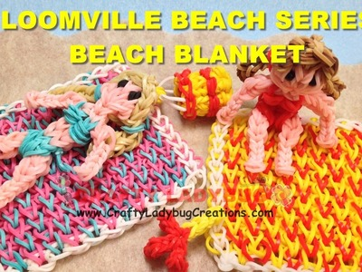 Rainbow Loom Band BEACH BLANKET Tutorials.How to Make by Crafty Ladybug