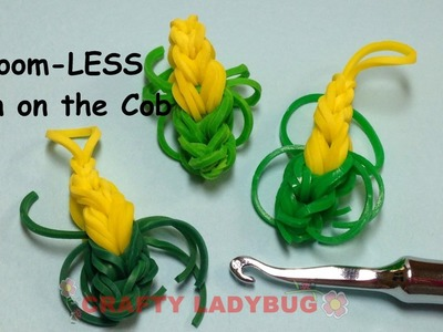 Rainbow Loom-LESS Corn on the Cob EASY Band Charm Tutorials by Crafty Ladybug.How to DIY