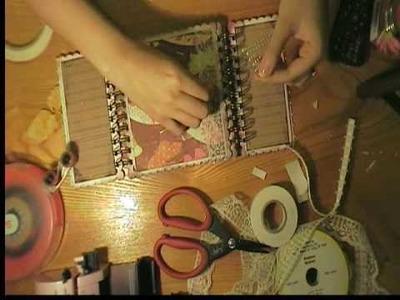 Scrapbooking with Marion Madeline mini album