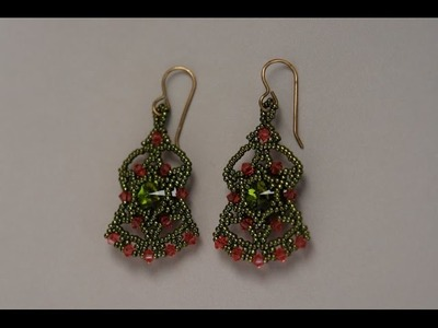 Sidonia's handmade jewelry - Bollywood earrings tutorial