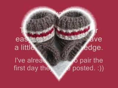 Sock Monkey Booties - Knitting Pattern Presentation