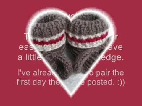 Sock Monkey Booties - Knitting Pattern Presentation