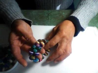Stretch Bracelet with Stone and Ceramic Beads