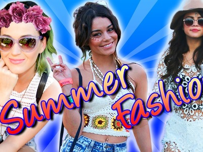 Summer Clothes ~ DIY Flower Crown & Celeb Festival Fashion!