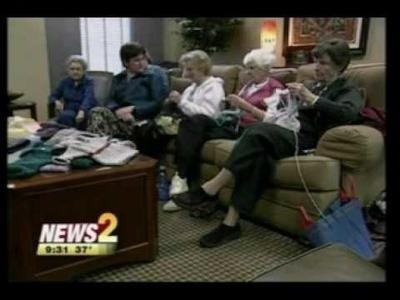 The Warm Woolies Knitting Circle on News 2
