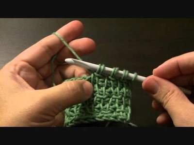 Tunisian Crochet Bamboo Stitch.wmv
