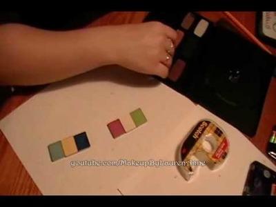 Tutorial:  DIY DVD Eyeshadow Palettes ~ Part 2