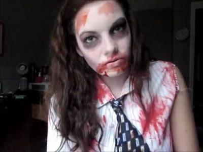 Zombie Halloween Makeup & DIY Costume!