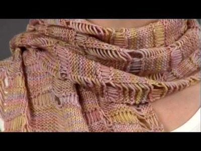 #13 Drop Stitch Scarf, Vogue Knitting Spring.Summer 2009