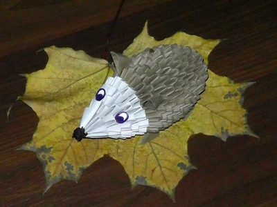 3D origami hedgehog tutorial