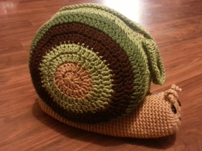 #Crochet Bag Snail Pillow Purse TUTORIAL PART 1 OF 3 THE SHELL