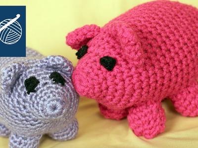 CROCHET PIG WILBUR - Left Hand Crochet Crochet Geek