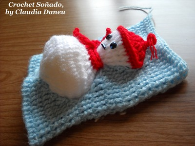 CROCHET SNOWMAN (FOR CLOTHING & ACCESSORIES). MUÑECO DE NIEVE CROCHET (PARA ROPAS Y ACCESORIOS)