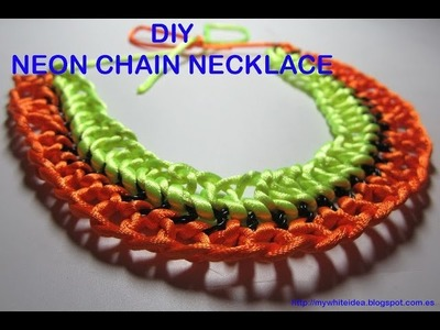 DIY  CHAIN AND ROPE NECKLACE