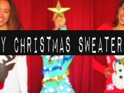DIY: CHRISTMAS SWEATERS (UGLY + CUTE) - HowToByJordan