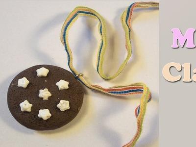 Diy Cookie polymer clay tutorial - Pandistelle - Bizcochito con estrellas con Arcillas poliméricas