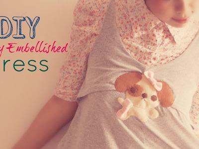 DIY Felt Puppy Embellished Dress : Fashion Tutorial