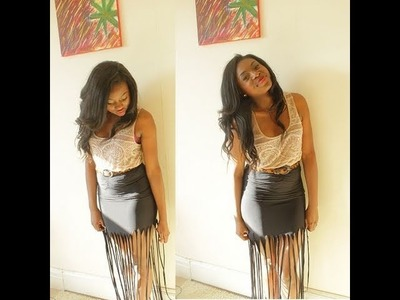 DIY FRINGED MAXI SKIRT & LOOK