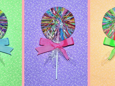DIY Hair Tie Lollipop Party FAVORS