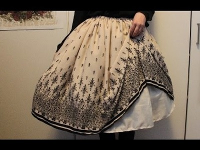 DIY: lined lolita skirt with full shirring TUTORIAL