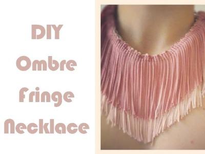 DIY Ombre Fringe Necklace