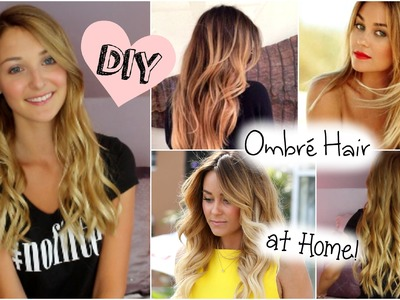 DIY: Ombré Hair at Home! (Blonde to Ombré)