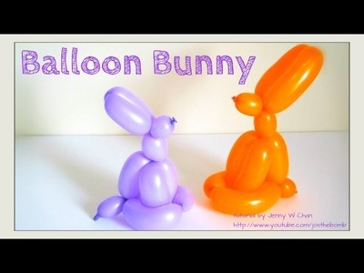 Easter Crafts - How to Twist a Balloon Animal Easter Bunny. Rabbit - Balloon Modeling - Easy