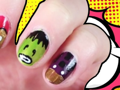 Easy DIY Avengers 2: Age of Ultron Nail Art | Superhero Nail Art | Easy Nail Art Designs at Home