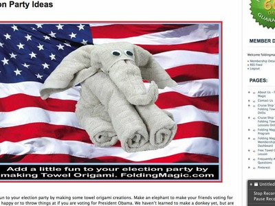 Election Party Ideas - Cruise Ship Towel Origami Animals