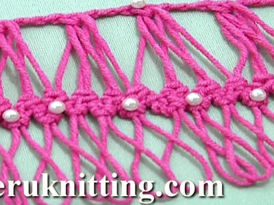 Hairpin Crochet Working Into Group of Loops Tutorial 27 Developing Basic Braid