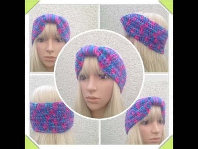 How to Crochet a Turban Headband by ThePatterfamily Pattern #11