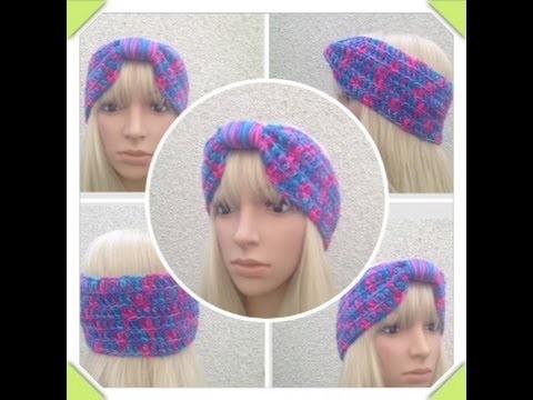How to Crochet a Turban Headband by ThePatterfamily Pattern #11