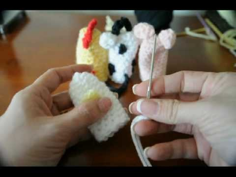 How to crochet lil' duck finger puppet